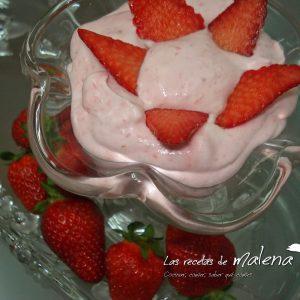 Copa nata con fresas
