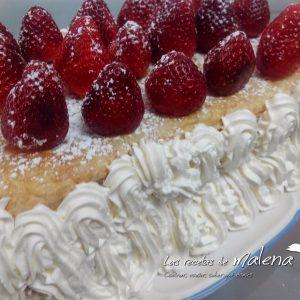 Milhojas fresas con nata