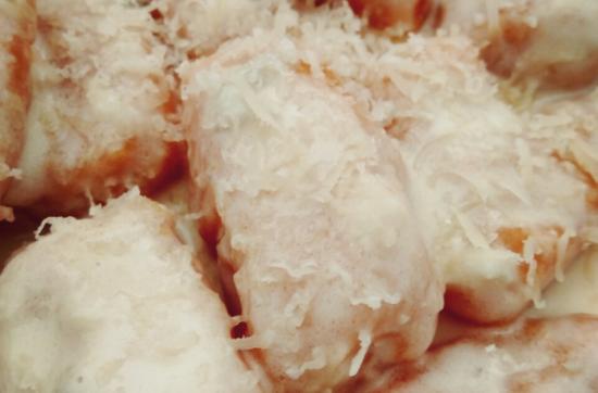 Gnocchi de calabaza con gongorzola.